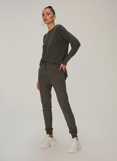 NGSTYLE Ribanalı Örme Pantolon Antrasit